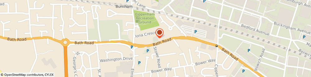 Route/map/directions to Thrifty Car and Van Rental - MAIDENHEAD, SL1 6JA Slough, 340 Bath Road