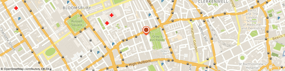 Route/map/directions to Alcolock UK Limited, WC1R 4JS London, 20-22 BEDFORD ROW
