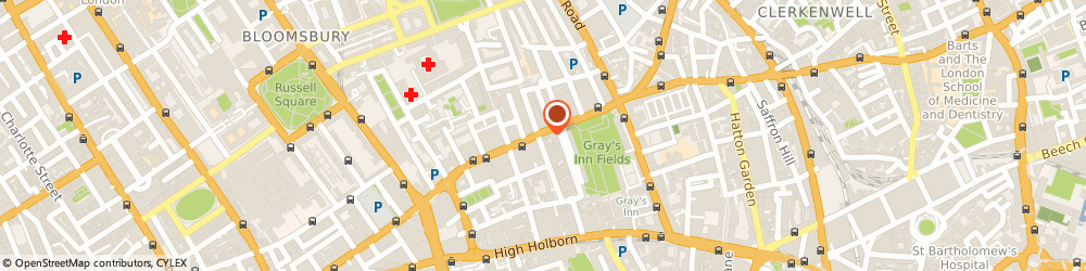 Route/map/directions to Gas Package Solutions (Gps) Limited, WC1R 4TQ London, 24 BEDFORD ROW