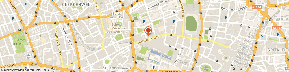 Route/map/directions to Braithwaite London, EC2Y 8AD London, 45 Beech St