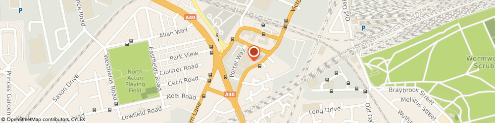 Route/map/directions to The Group Pensions Department, W3 6RS London, 1 Portal Way