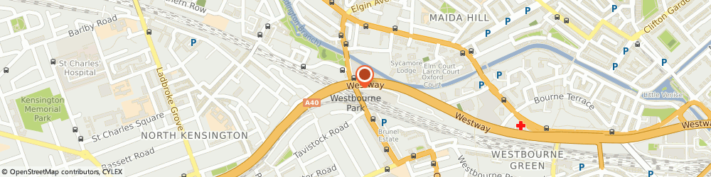 Route/map/directions to Myles Cummings, W9 3NY London, GREAT WESTERN STUDIOS, GREAT WESTERN ROAD