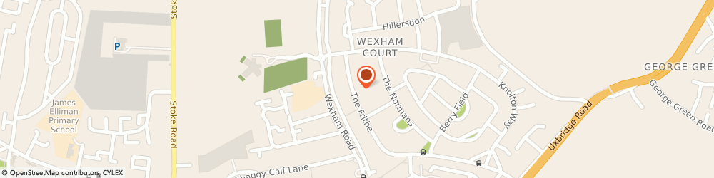 Route/map/directions to Dreamztime Kitchens and Bedrooms, SL2 5SY Slough, 23 The Frithe