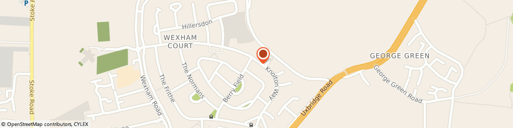 Route/map/directions to Dial a Cab, SL2 5RY Slough, 140 Knolton Way