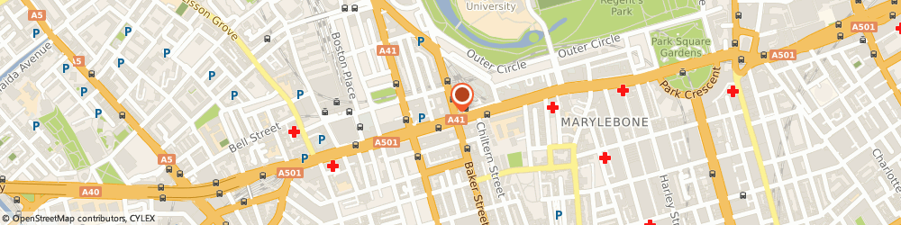 Route/map/directions to Lloyds Bank, NW1 6XB London, 185 Baker Street