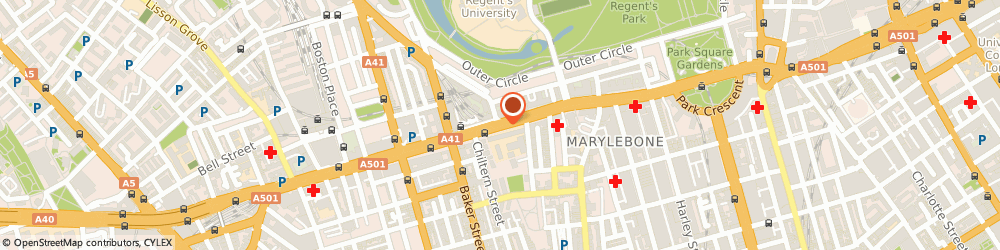 Route/map/directions to Academy Chimes Music Shop London, NW1 5HT London, YORK GATE BUILDING, MARYLEBONE RD