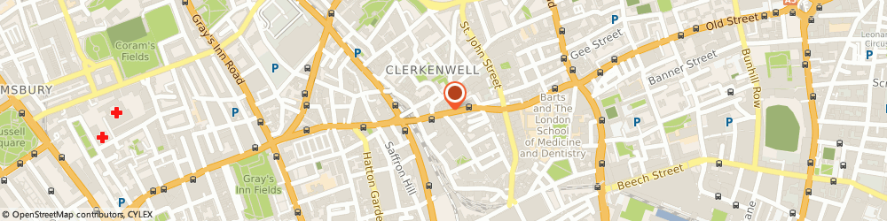 Route/map/directions to Susannah Hall Tailors, EC1M 5SA London, 110 Clerkenwell Rd