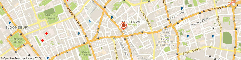 Route/map/directions to SOLEDAD (UK) LIMITED, EC1R 3BW London, 109-111 FARRINGDON ROAD