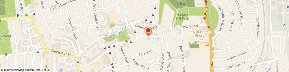 Route/map/directions to Green Haven Elderly Peoples Home, W5 2QP London, 18 Montpelier Road