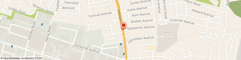 Route/map/directions to Sue Ryder Social Care Slough, SL1 4XS Slough, 199 - 203 Farnham Road