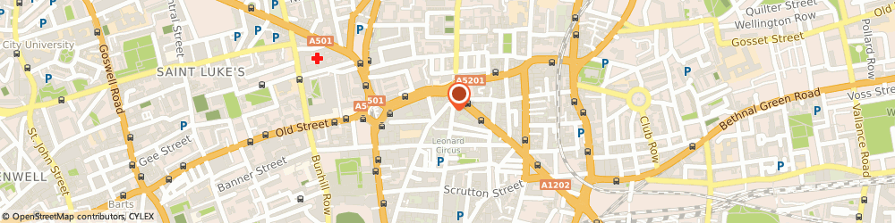Route/map/directions to Nigel Campbell Counselling & Psychotherapy, EC2A 4SD London, 140 Tabernacle St