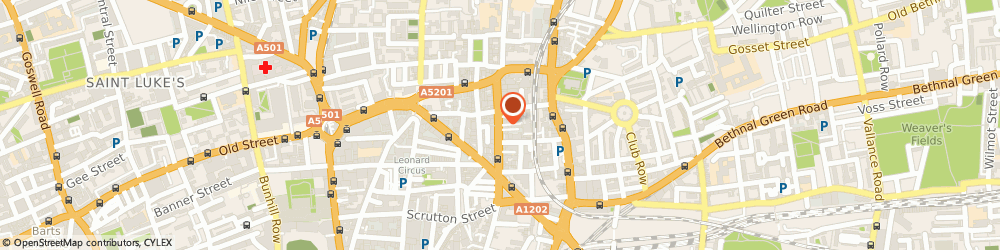 Route/map/directions to Romford Skip Hire Ltd, EC2A 3AH London, 114-116 Curtain Road