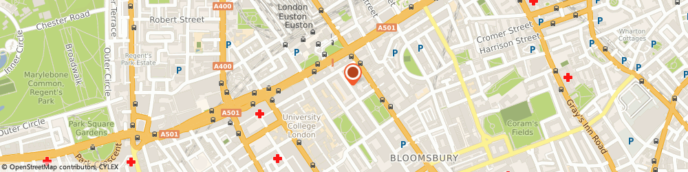 Route/map/directions to John Adams Hall Institute Of Education, WC1H 0DP London, 15-23 Endsleigh St, Kings Cross