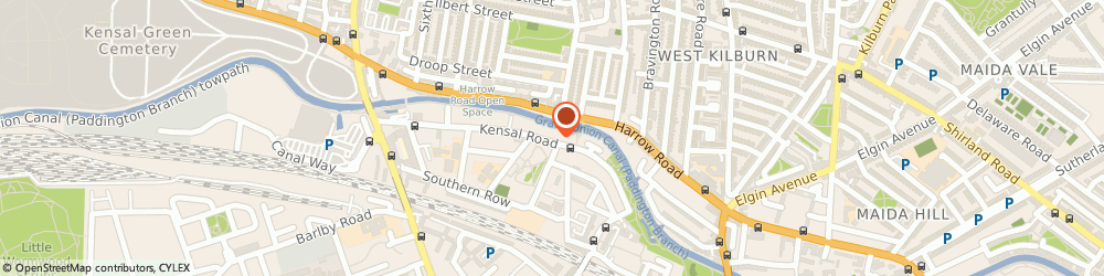 Route/map/directions to Octavia Foundation, W10 5BN London, EMILY HOUSE, 202 - 208 KENSAL ROAD