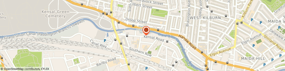Route/map/directions to MONEY CLOTHING LIMITED, W10 5BE London, 304 KENSAL ROAD