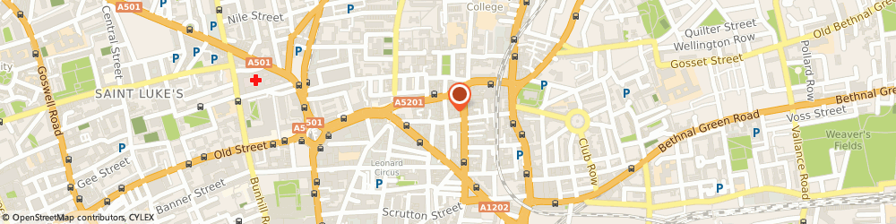 Route/map/directions to Sitelynx Search Marketing, EC2A 3PE London, 64 CHARLOTTE ROAD