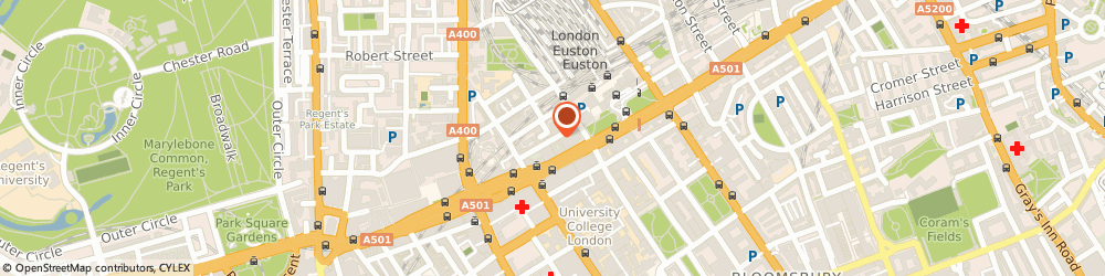 Route/map/directions to The Magic Circle, NW1 2HD London, 12 Stephenson Way, Kings Cross