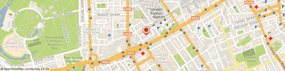 Route/map/directions to R. R. R. Clothing Limited, NW1 2EW London, 105-111 EUSTON STREET