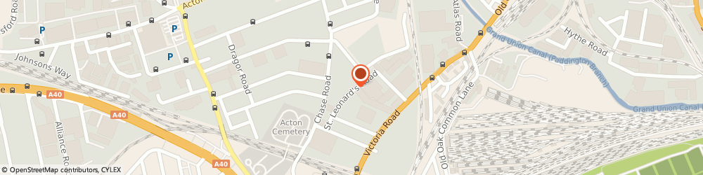 Route/map/directions to MW Scaffolding UK Ltd, NW10 6ST London, Centre House St. Leonards Rd