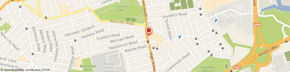 Route/map/directions to Central Park Estates, E6 3RL London, 108 High St S