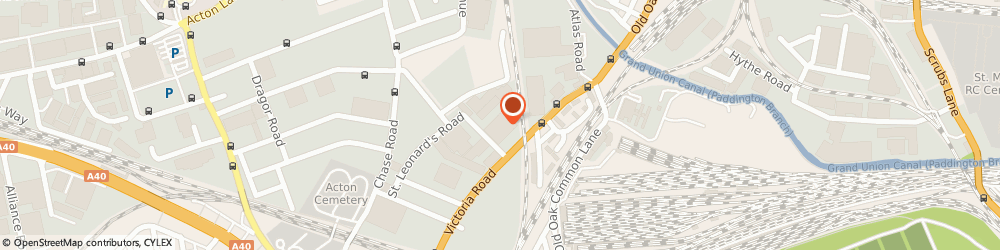Route/map/directions to Fone Range PLC, NW10 6NF London, UNIT 10 CHANDOS PARK ESTATE CHANDOS ROAD
