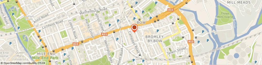Route/map/directions to Paragon Outdoor Media Sales Ltd, E3 4DS London, 5 CAMPBELL RD