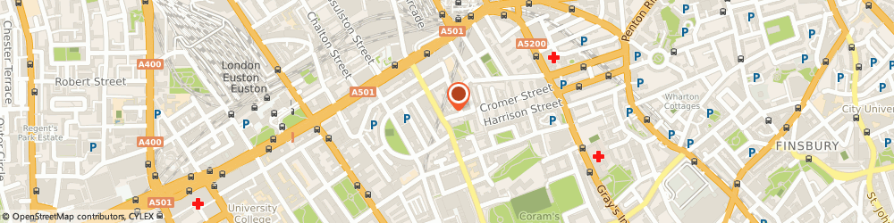 Route/map/directions to Startup Funding Club Ltd, WC1H 8BU London, 1-6 Speedy Place, Cromer St