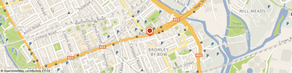 Route/map/directions to C Selby & Son Funeral Directors - Closed, E3 3AA Bow, 116 Bow Road
