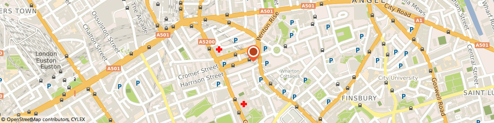 Route/map/directions to Nevspro Store, WC1X 9LX London, 17B ACTON STREET CAMDEN
