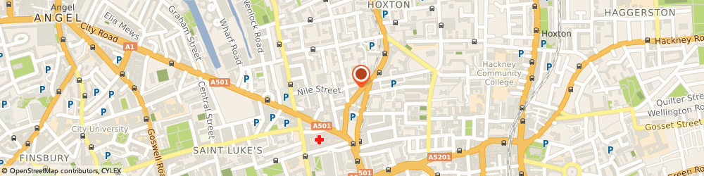 Route/map/directions to Glitter-Arty Face & Body Art, N1 7SR London, 64 Nile Street