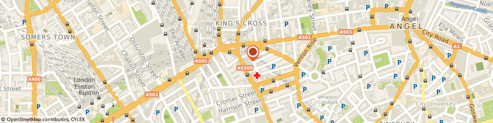 Route/map/directions to Acorn finance, WC1X 8BP London, 344 – 354 Gray's Inn Road