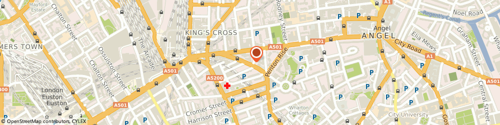 Route/map/directions to Andrew Murray & Co, WC1X 9DU London, 144-146 King's Cross Rd