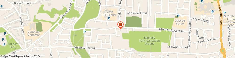 Route/map/directions to Kumon Maths and English, SL2 2LX Slough, St George's Church, Long Furlong Drive