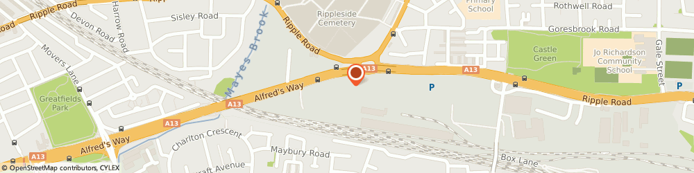 Route/map/directions to Phs Treadsmart, IG11 0BA Barking, THE INVICTA CENTRE UNIT 2, ALFREDS WAY