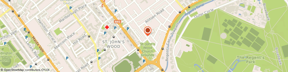 Route/map/directions to Intimates, NW8 7NG London, 11 St John's Wood High Street