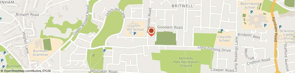 Route/map/directions to H 2 Plumbing & Heating, SL2 2QW Slough, 2 Garrard Rd