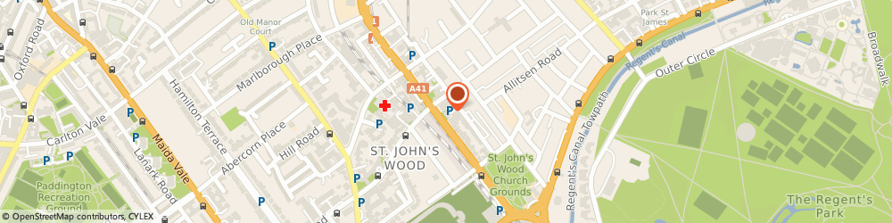 Route/map/directions to Knight & Chauffeur Drive, NW8 9ST London, Flat 3, Reynolds House, Wellington Road