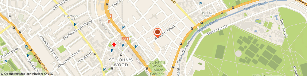 Route/map/directions to Jane Packer, NW8 7AY London, 104 ALLITSEN ROAD