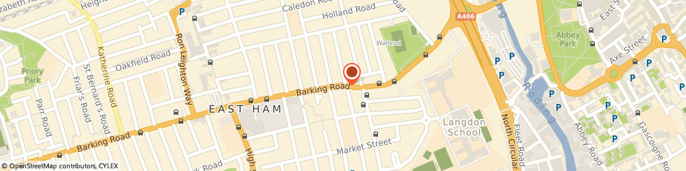 Route/map/directions to Yaz's Flower Gallery, E6 2SA London, 414 BARKING ROAD
