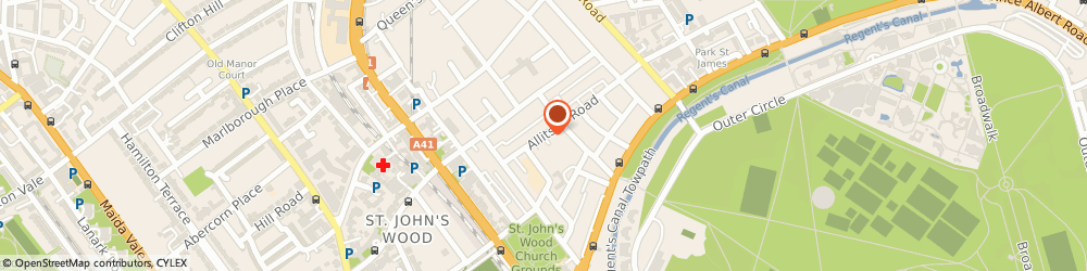 Route/map/directions to St Johns Wood Removals, NW8 7BB London, 94 Allitsen Rd