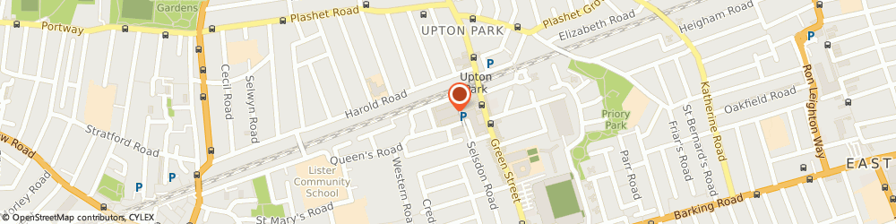 Route/map/directions to Farida's Kitchen, E13 9BA London, CITY KITCHEN 56 QUEENS MARKET UPTON PARK