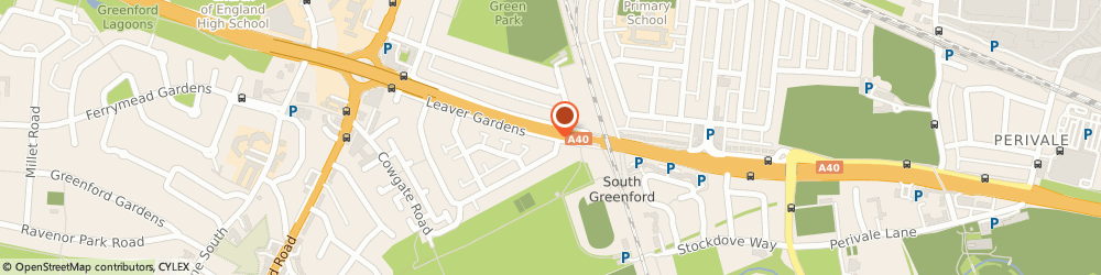 Route/map/directions to South Greenford Rail Station, UB6 8EL Perivale, Leaver Gardens