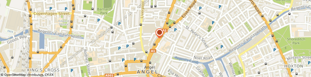 Route/map/directions to Zee & Co, N1 0PN London, 36 Upper St