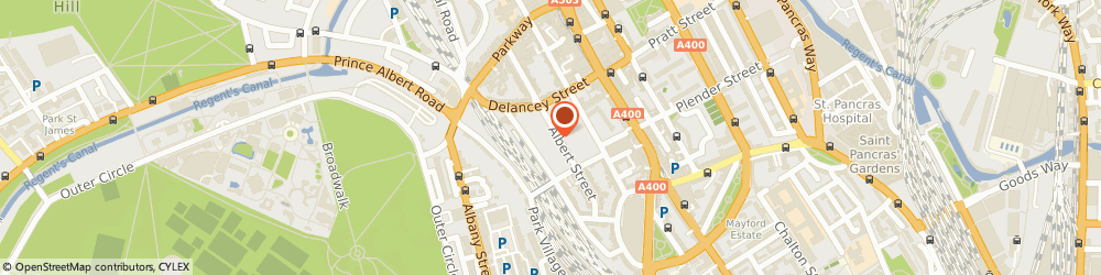 Route/map/directions to Barbara Harrison Associates Limited, NW1 7LX London, 87 ALBERT STREET