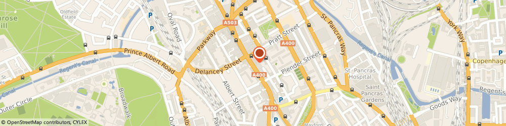 Route/map/directions to Alpha Guns, NW1 0LT London, 84 Camden High Street
