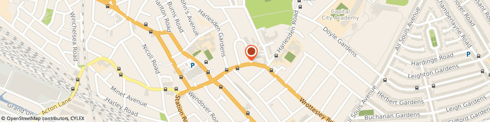 Route/map/directions to Zara Makes, NW10 4JE London, 34 Park Parade