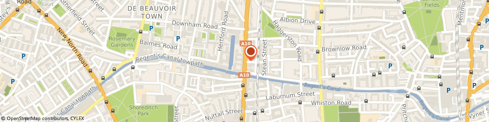 Route/map/directions to Rebirth, E8 4DG London, 258 KINGSLAND ROAD