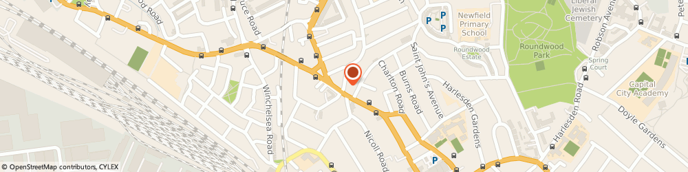 Route/map/directions to Prop Solutions, NW10 8UT London, A, 14 St. Thomas's Road