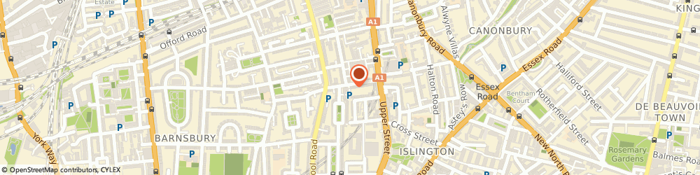 Route/map/directions to Alan Wallbank Refurbishments, N1 1PW London, 41D Barnsbury Street