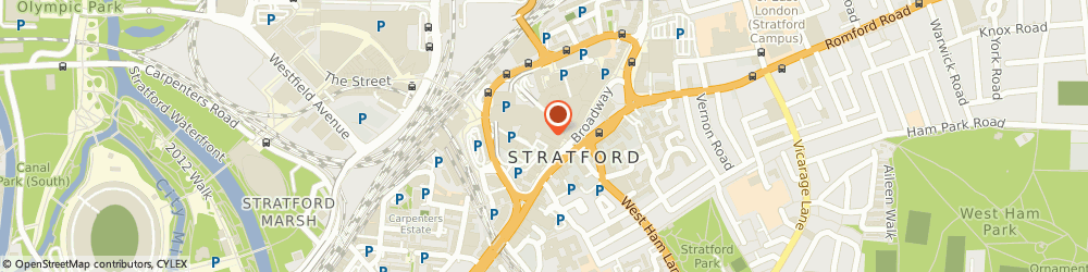 Route/map/directions to Miss Selfridge Fashion Retailer, E15 1XA London, Stratford, Greater